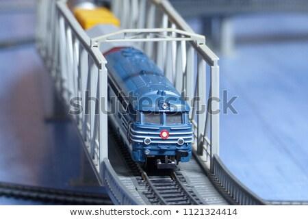 Modello ferrovia ponte tunnel architettura Foto d'archivio © nelsonart