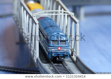 модель железная дорога моста туннель архитектура Сток-фото © nelsonart
