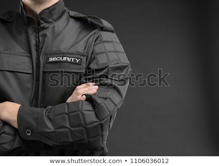 Guardia deber soldado cuadro aislado blanco Foto stock © Bigalbaloo