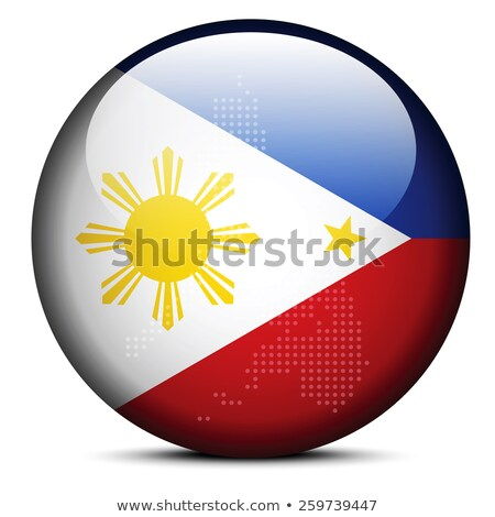 Map with Dot Pattern on flag button of Republic Philippines Stock photo © Istanbul2009
