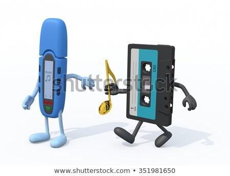 estéreo · alto-falante · conjunto · telefone · jogar · música - foto stock © jossdiim