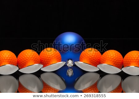 Azul Navidad cucharas golf decoración Foto stock © CaptureLight