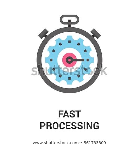 Seo Process on Metal Gears. Stock photo © tashatuvango