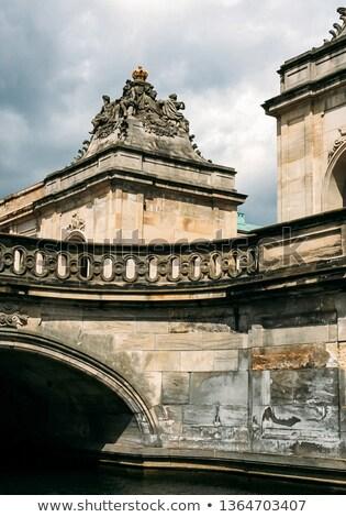 Puente canal palacio Copenhague Dinamarca cielo Foto stock © master1305