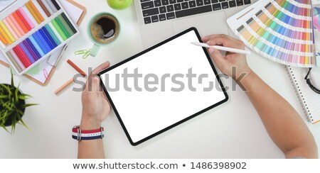Person Hand Drawing On Graphic Tablet stock photo © AndreyPopov