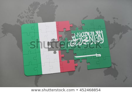 Italië Saoedi-Arabië vlaggen puzzel vector afbeelding Stockfoto © Istanbul2009