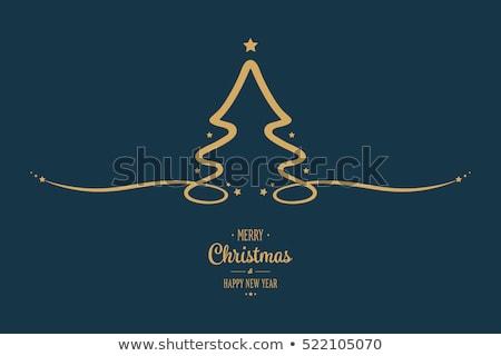 Bleu vecteur résumé hiver étoiles arbre de noël Photo stock © ESSL