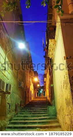Keskeny utca város Szicília Olaszország épület Stock fotó © ankarb
