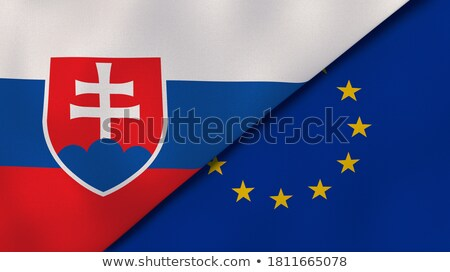 Europeu união Eslováquia bandeiras quebra-cabeça isolado Foto stock © Istanbul2009
