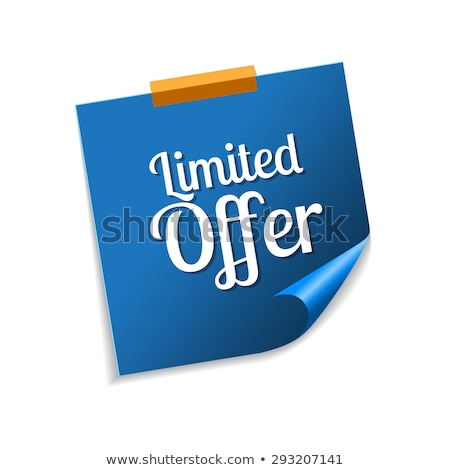 Stock photo: Limited Time Offer Blue Sticky Notes Vector Icon Design