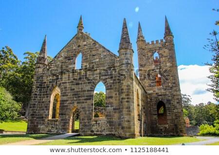 Puerto iglesia tasmania mundo patrimonio Foto stock © roboriginal
