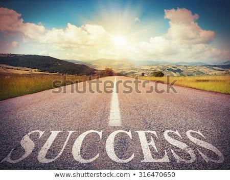 провал · успех · дорожный · знак · фон · красный · белый - Сток-фото © fuzzbones0