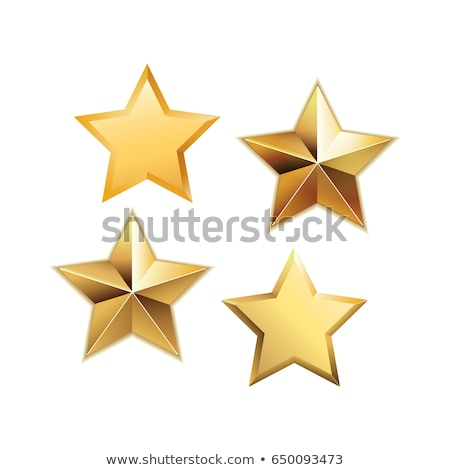 Star Golden Vector Icon Design Stock photo © rizwanali3d