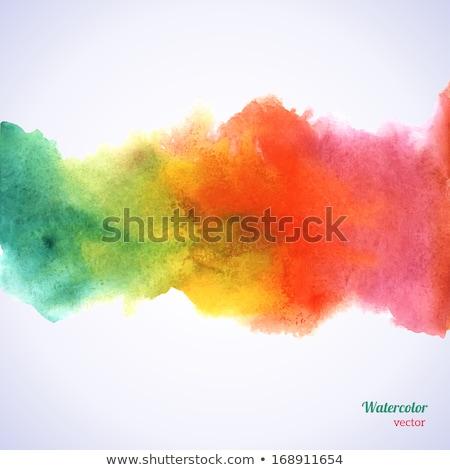 ベクトル 抽象的な 水彩画 ビジネス 水 塗料 ストックフォト © Dahlia