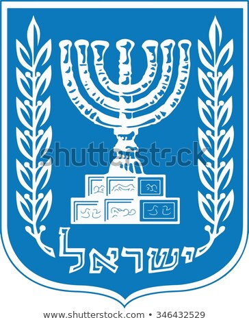 Vector Emblem of Israel Stock photo © netkov1