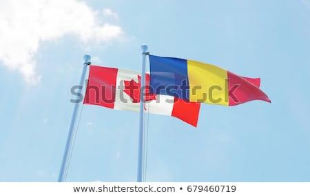 Canadá Rumania banderas rompecabezas aislado blanco Foto stock © Istanbul2009