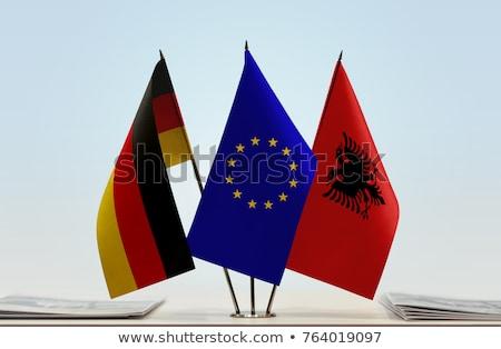 Alemania Albania banderas rompecabezas aislado blanco Foto stock © Istanbul2009