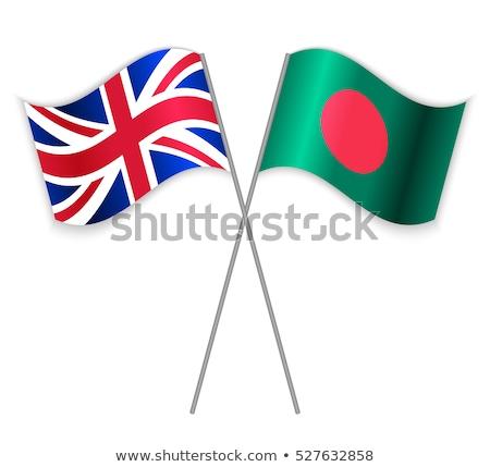 Egyesült Királyság Banglades zászlók puzzle izolált fehér Stock fotó © Istanbul2009