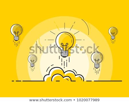 Duży pomysły twórczej żarówka dzieci pracy Zdjęcia stock © tetkoren