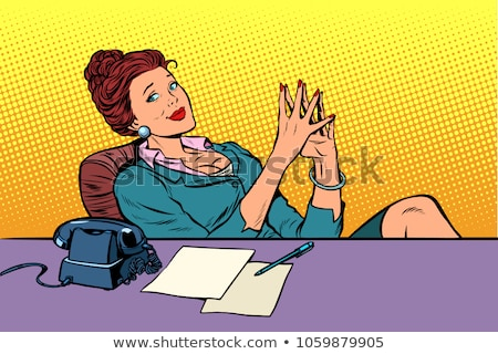 Retro Secretary Woman Businesswoman Office Stock fotó © studiostoks