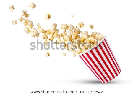 popcorn · hoop · geïsoleerd · witte · textuur · voedsel - stockfoto © ozaiachin