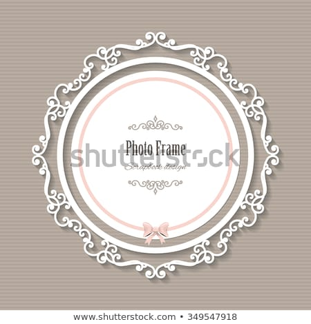 Vintage rounded lace with pink background Stock photo © liliwhite