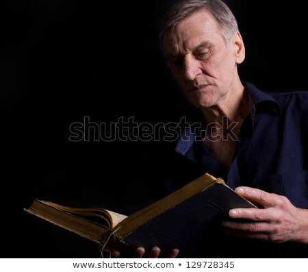 strict teacher with big book Stock photo © PetrMalyshev