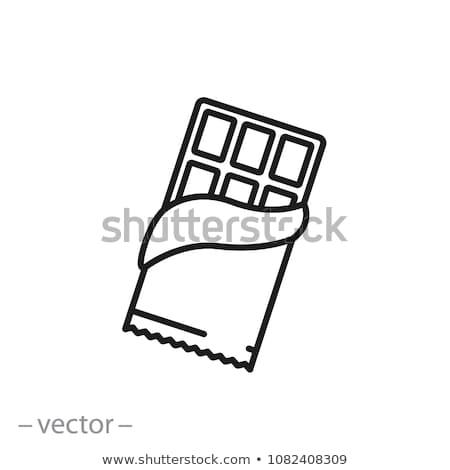 Bar czekolady line ikona internetowych Zdjęcia stock © RAStudio