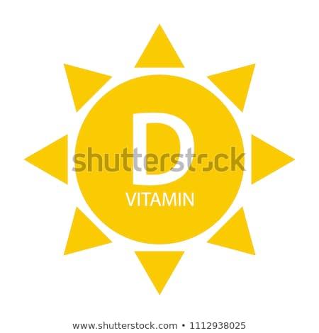 Vitamine d icône lumineuses couleur balle Photo stock © netkov1