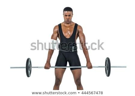 Ritratto giovani bodybuilder fotocamera crossfit palestra Foto d'archivio © wavebreak_media