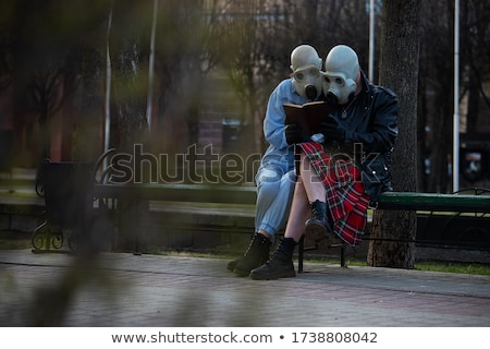 Man with gas mask Stock photo © badmanproduction