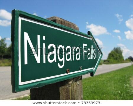 Niagara Falls Canada tekst zwaar cartoon naam Stockfoto © blamb