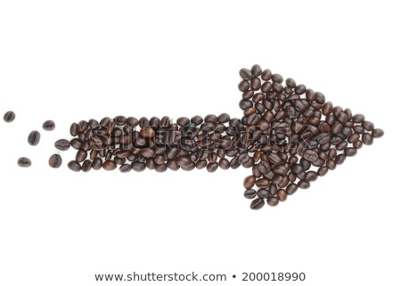 Arrow made of Coffee Beans stock photo © watsonimages