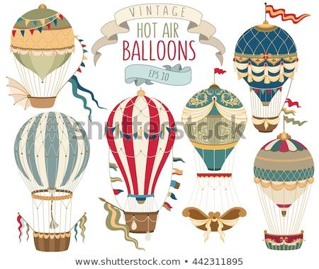 Close-up of flying air balloon Stock photo © bezikus