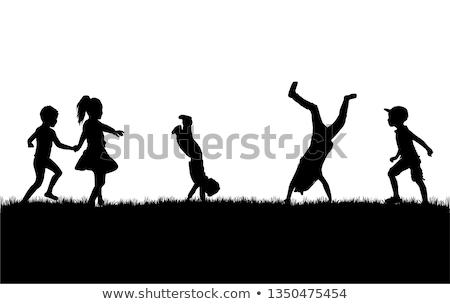 conceptual silhouette of a child Stock photo © zurijeta