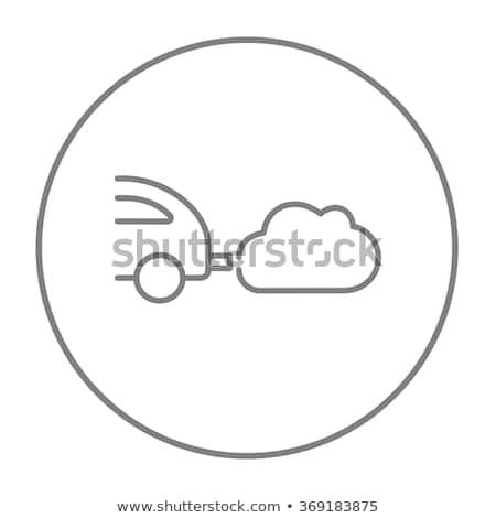 Auto uitputten lijn icon hoeken web Stockfoto © RAStudio