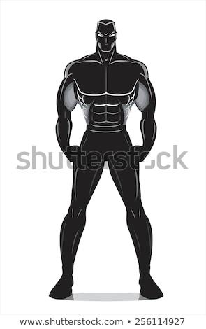 Test építész bajnok pózol stúdió izmos Stock fotó © zurijeta