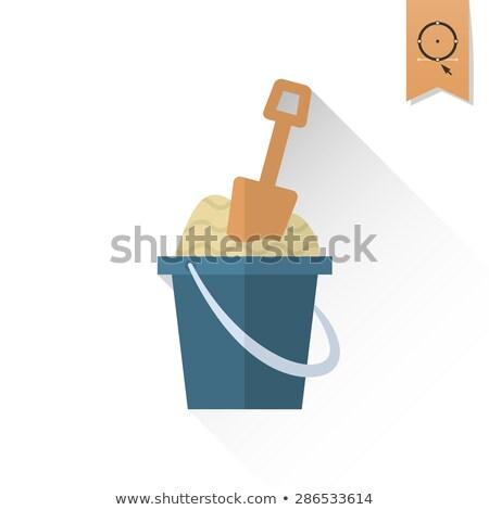 Zdjęcia stock: Kolorowy · ilustracja · tle · zielone · niebieski · piasku