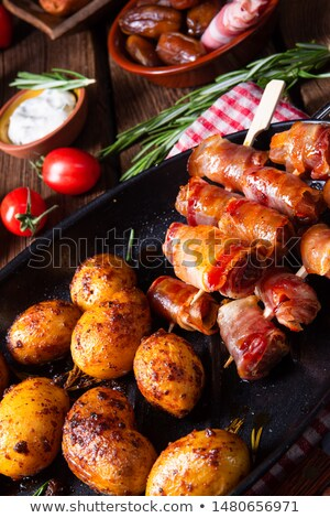 potato and bacon skewer stock photo © digifoodstock