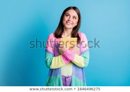 Woman with blue hair. Stock photo © iofoto