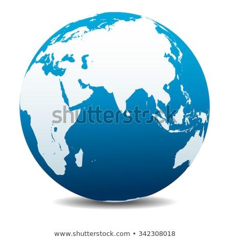 India Afrika Kína indiai óceán globális Stock fotó © fenton