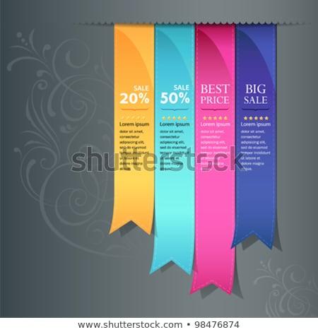 Yellow And Blue Satin Ribbons Book Stok fotoğraf © Sarunyu_foto