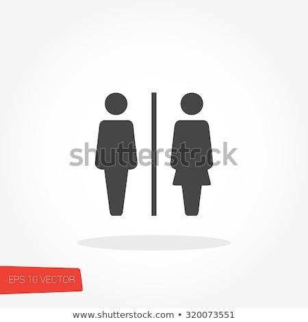 Férfi női toalett szimbólum ikon lány Stock fotó © nezezon