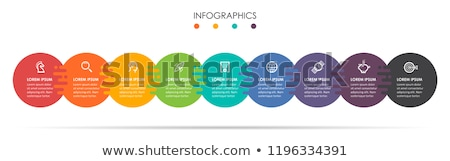 An infochart with colourful graphs Stock photo © bluering