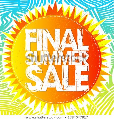 final sale with sun sign drawn label stock photo © marinini