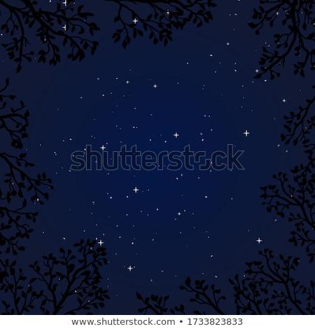 Decorative night tree wallpaper, vector illustration Stock photo © carodi