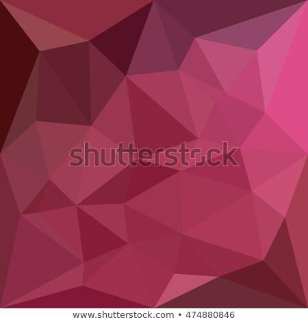 Pembe soyut düşük çokgen stil örnek Stok fotoğraf © patrimonio