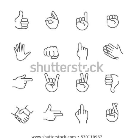 вектора вызывать пальца знак стороны Сток-фото © kali