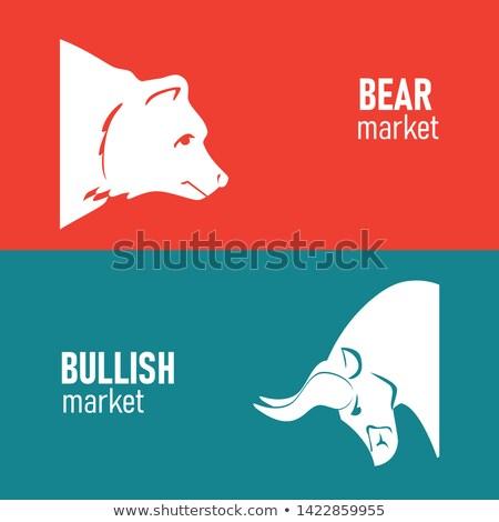 растущий несут рынке финансовых негативных Сток-фото © Lightsource