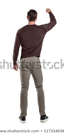 man in Standing Reaching  pose on white background Stock photo © Istanbul2009